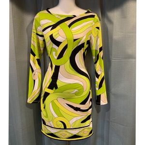 Michael Kors Green Mod Dress